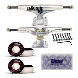 Kit De Skate Truck 139mm Roda 53mm Rolamento Importado Chaze