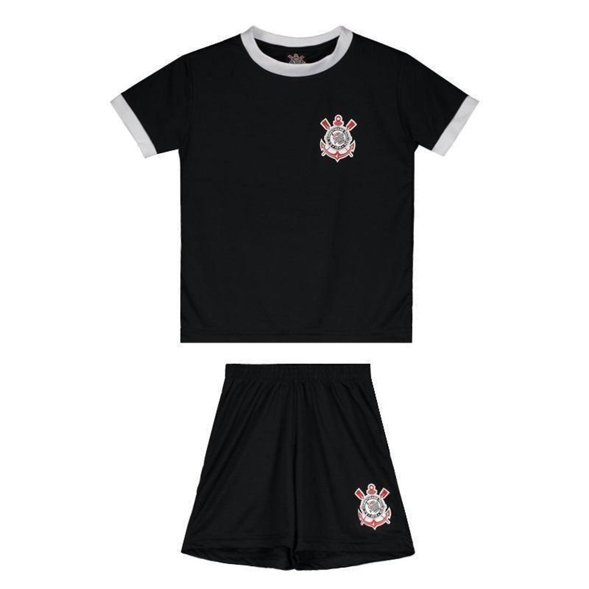 66b90d4e18 Kit de Uniforme Corinthians Basic Infantil
