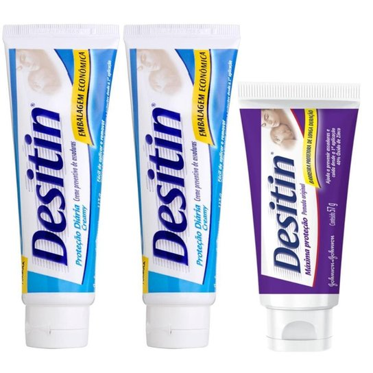 Kit Desitin: 2 Creamy 113g + Máxima Duração 57g - Incolor