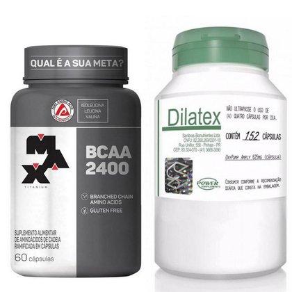 Kit Dilatex Vasodilatador (152caps) - Power Supplements + Bcaa 2400 (60cps) - Max Titanium
