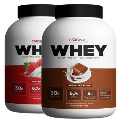 Kit Duplo Whey Protein 900g – Original Nutrition – 1,8KG