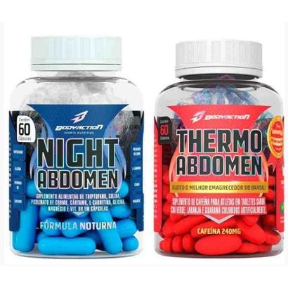 Kit Emagrecedor Night Abdomen 60 Cáps + Thermo Abdomen 60 Tabs Body Action