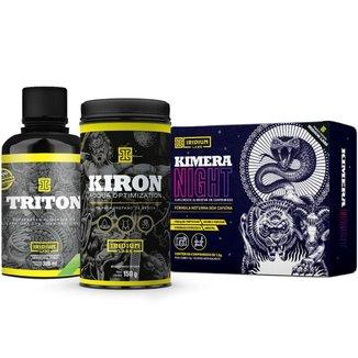 Kit Emagrecimento Noturno - Kimera Night + Kiron Diurético + Triton L-Carnitina