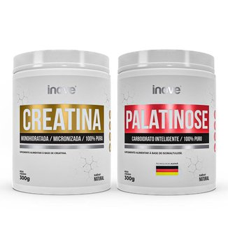 Kit Energia e Performance: 01 Creatina 300g + 01 Palatinose 300g Inove Nutrition