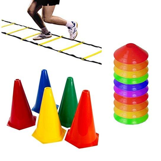 Kit Escada + 8 Cones + 12 Half Cone Funcional Rythmoon - Colorido