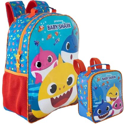 Kit Escolar Xeryus Baby Shark R1 Mochila 14 + Lancheira