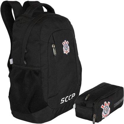 Kit Escolar Xeryus Corinthians SCCP Mochila + Estojo
