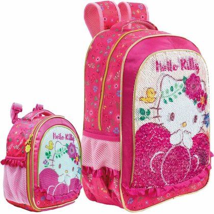 Kit Escolar Xeryus Hello Kitty Magic Touch Mochila 16 + Lancheira