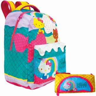 Kit Escolar Xeryus Hello Kitty T3 Mochila 16 + Estojo