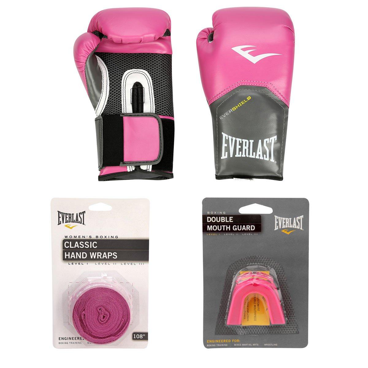 50f0d51af Kit Everlast Luva de Boxe Muay Thai Everlast Pro Style - 8 oz + Bandagem  Elástica + Protetor Bucal