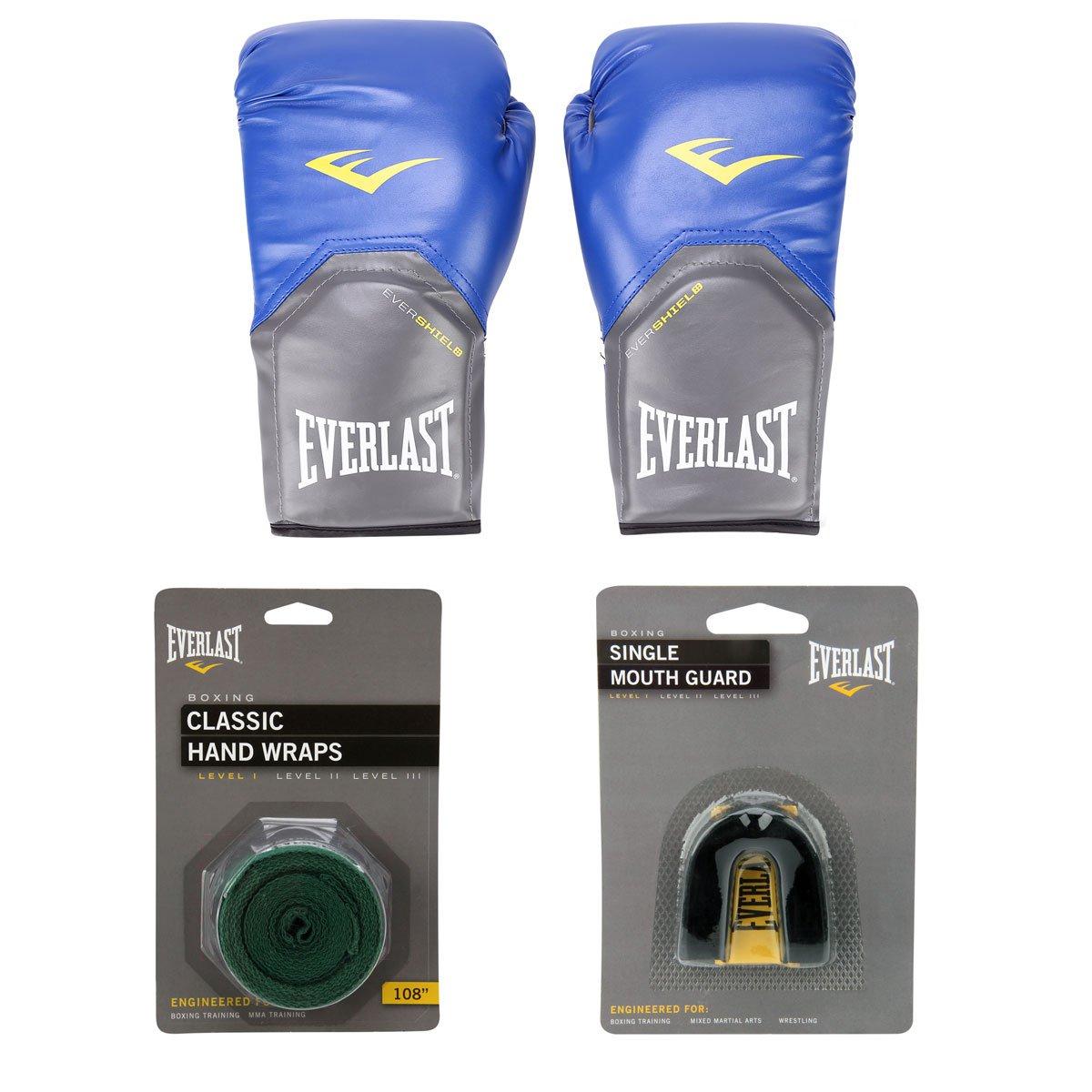 d1626b985c592 Kit Everlast Luva de Boxe Muay Thai Pro Style - 12 oz + Bandagem Elástica +  Protetor Bucal - Compre Agora