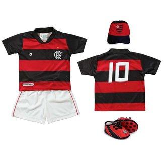 Kit Flamengo Bebê 4 Peças Sublimado Torcida Baby G