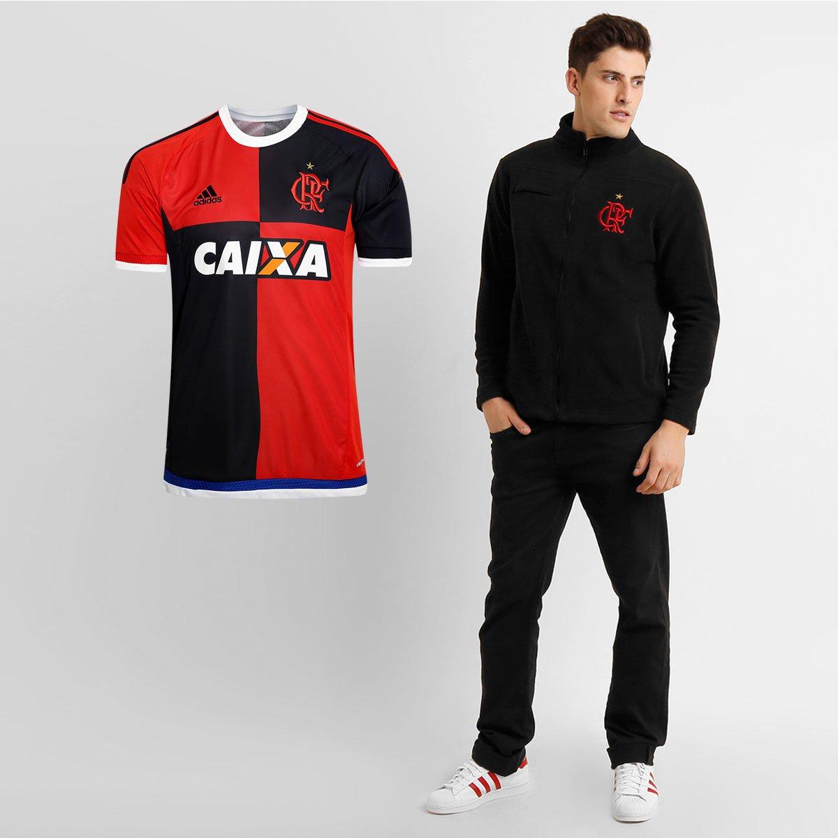 f77b08e7cd Kit Flamengo - Camisa Adidas Flamengo 450 Anos + Jaqueta Alasca - Compre  Agora