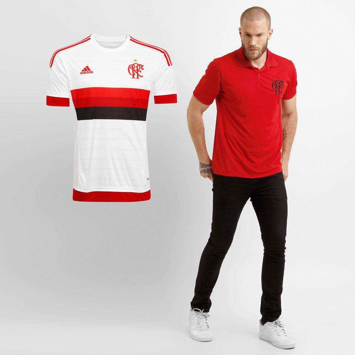 Kit Flamengo - Camisa Adidas Flamengo II 15 16 s nº + Camisa Polo - Compre  Agora  ca0e056e0ed51