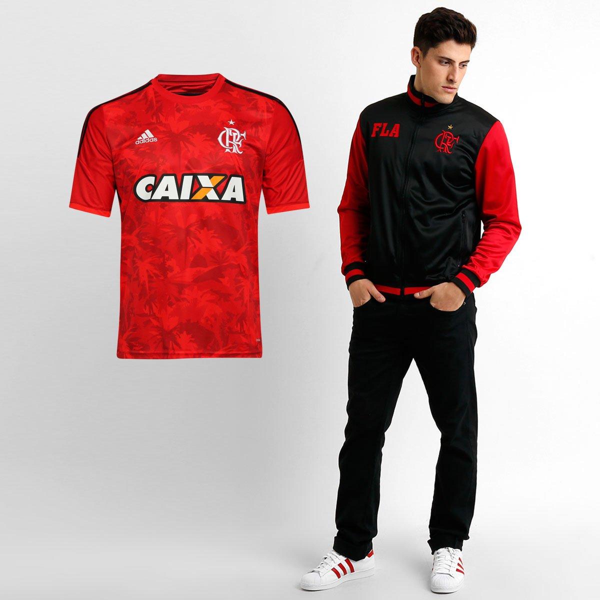 acdc926f06 Kit Flamengo - Camisa Adidas Flamengo III 14 15 + Jaqueta Tibet - Compre  Agora