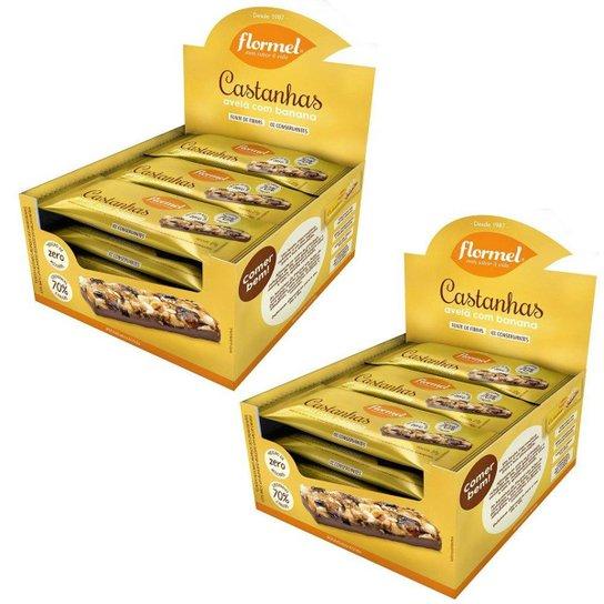 Kit Flormel Barras De Cereais Banana + Avela Chocolate Zero -