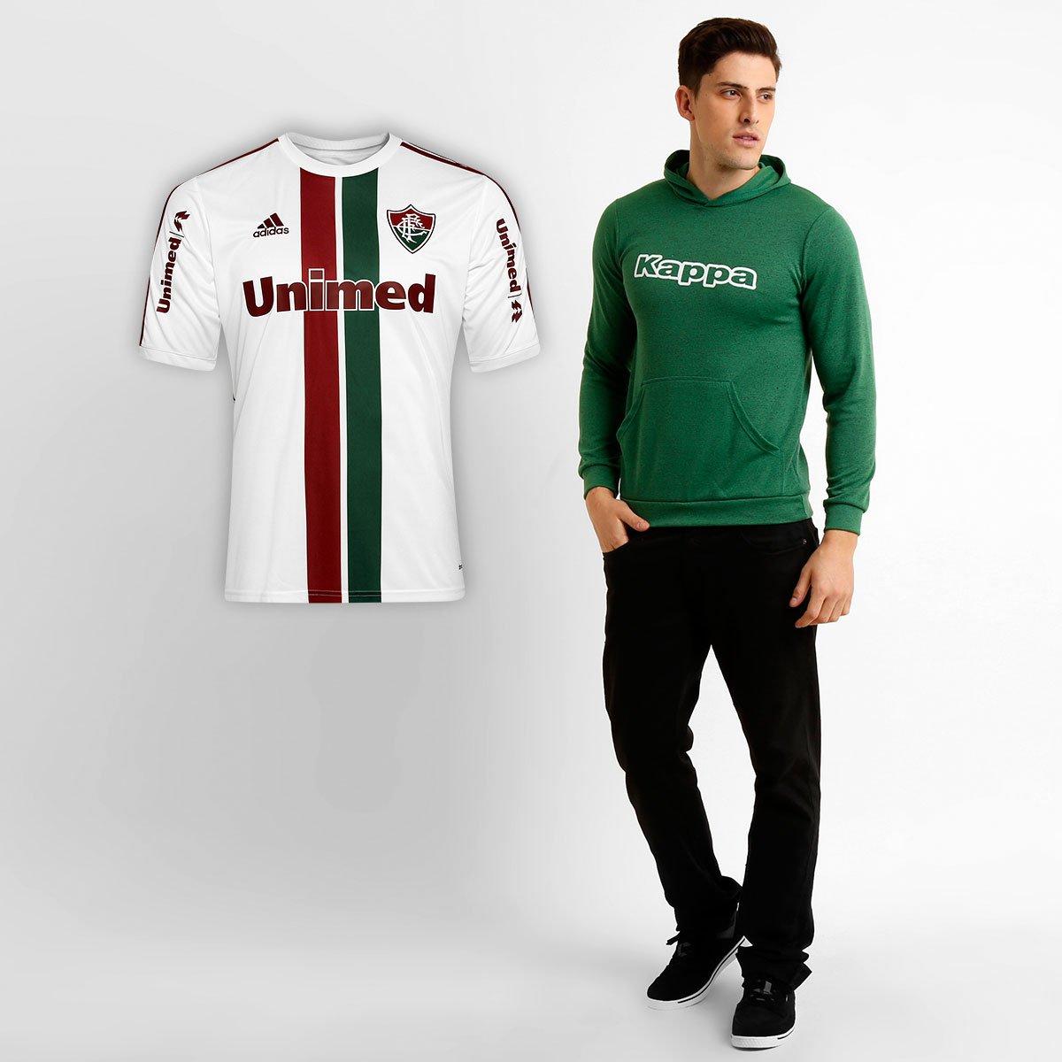 Kit Fluminense - Camisa Adidas Fluminense II 14 15 + Blusão Kappa - Compre  Agora  66c98b9c3e887