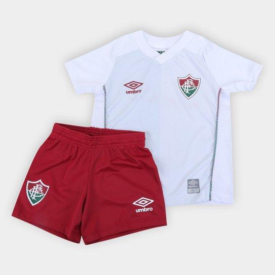 Kit Fluminense Infantil II 21/22 s/n° Torcedor Umbro - Branco+Verde