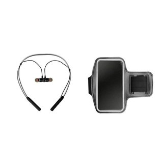Kit Fone de Ouvido Bluetooth e Braçadeira Running