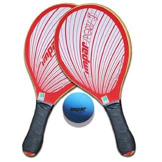 Kit Frescobol  2 Raquetes Impar Sports + 1 Bolinha