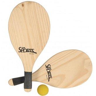 Kit Frescobol Tênis De Praia - Bel Sports