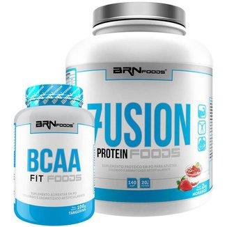 Kit Fusion 2kg + BCAA 100g - BRNFOODS