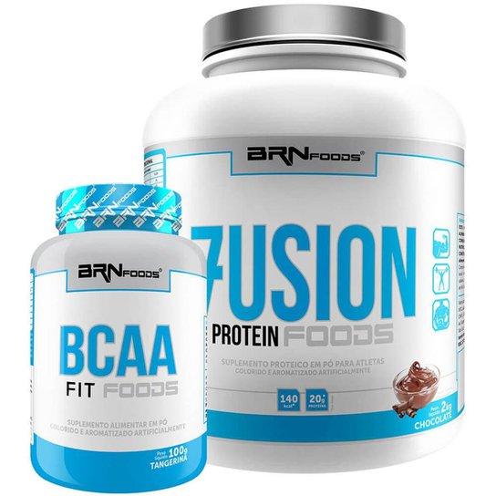 Kit Fusion 2kg + BCAA 100g - BRNFOODS -