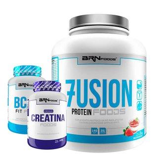 Kit Fusion 2kg + BCAA 100g + Creatina 100g - BRNFOODS