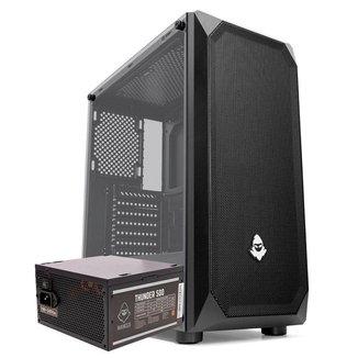 Kit Gabinete Mancer Ultraflow + Fonte Mancer Thunder 500W