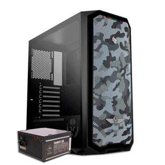 Kit Gabinete Pichau Gadit X RTB + Fonte Mancer Thunder 500W