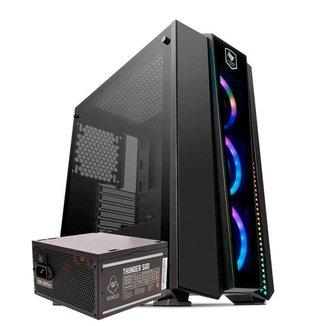 Kit Gabinete Pichau Gaming Frillback X RGB + Fonte Mancer Thunder 500W