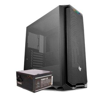 Kit Gabinete Pichau Gaming Gadit X + Fonte Mancer Thunder 500W