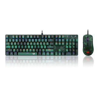 Kit Gamer Redragon Teclado Mecânico Gamer Rainbow ABNT2 + Mouse Gamer S108