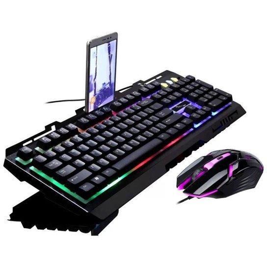 Kit Gamer Teclado LED + Mouse KB016 - Preto