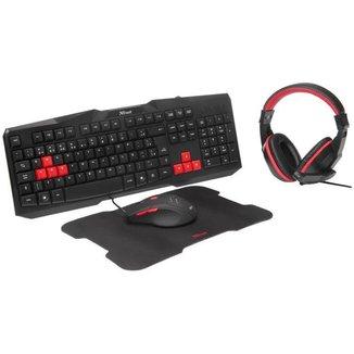 Kit Gamer Trust Teclado e Mouse com Headset