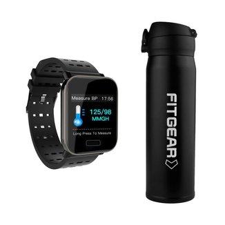 Kit Garrafa Térmica Defender U + Relógio Smartwatch Fusion Fitgear