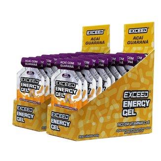 Kit Gel Energético Exceed Energy Gel c/ 2 displays c/ 20 saches