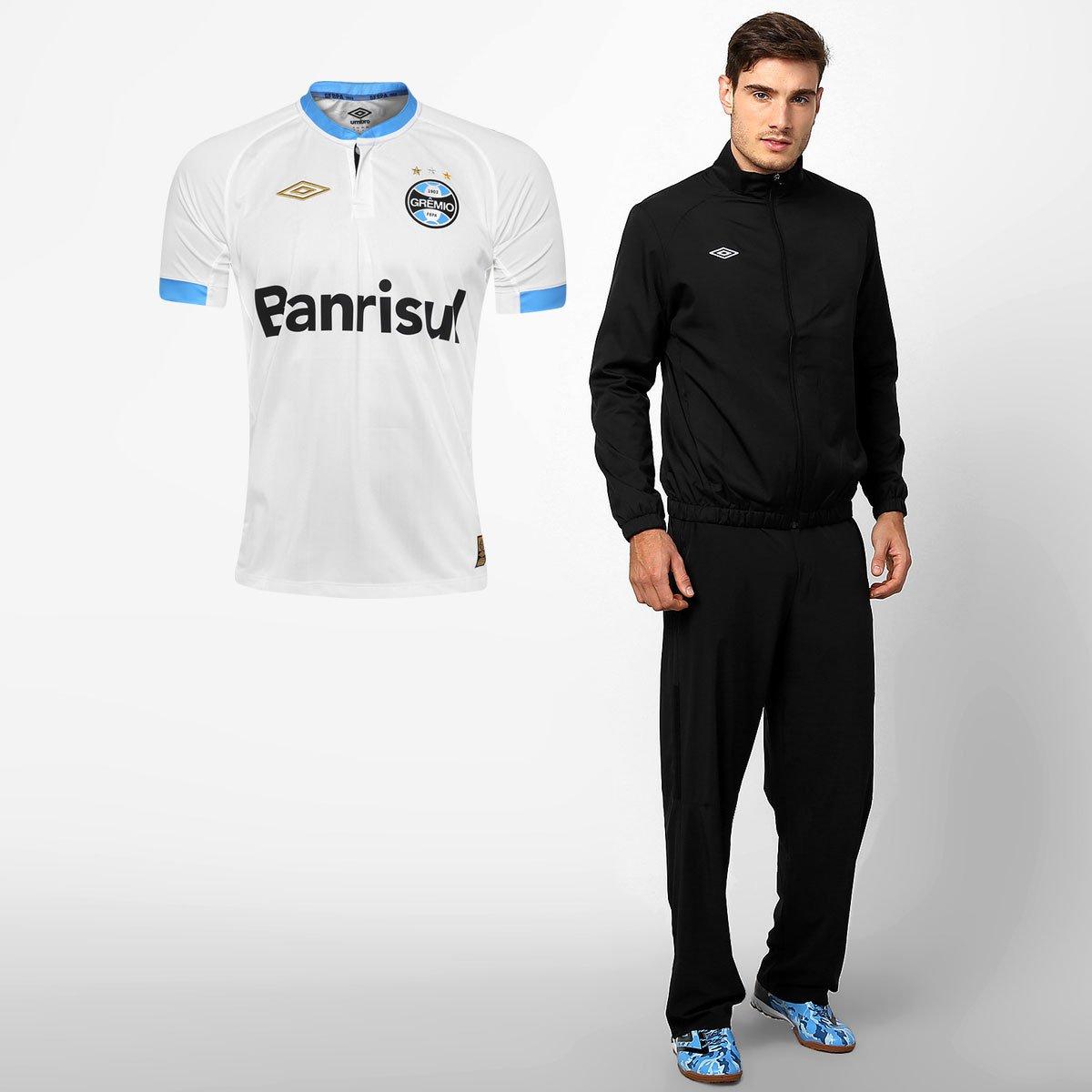 Kit Grêmio - Camisa Umbro Grêmio II 2015 + Jaqueta Umbro - Compre Agora  67107183f7ab8
