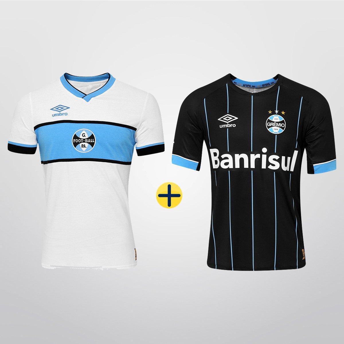 Kit Grêmio Umbro - Camisa IV 2015 s nº + Camisa Retrô Masculino - Compre  Agora  56d6c908bde90