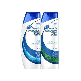 Kit Head & Shoulders - Shampoo Anticaspa Menthol Sport Masculino - 400mL