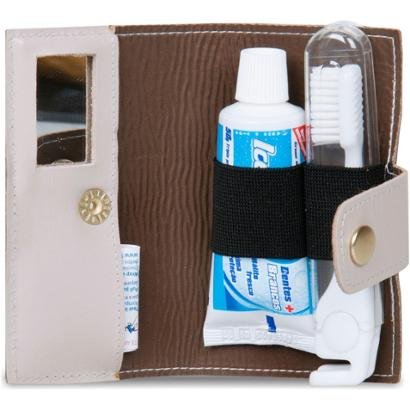 Kit Higiene Bucal Couro Artlux - Unissex