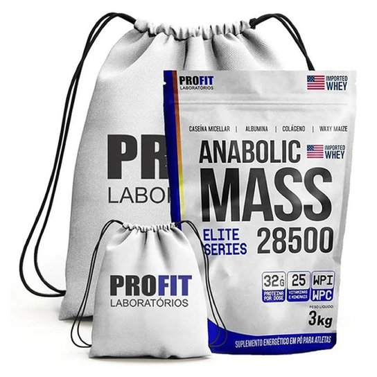 Kit Hipercalorico Anabolic Mass 3Kg + Mochila - Profit (Baunilha) -