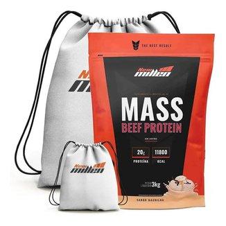 Kit Hipercalorico Mass Beef Protein 3Kg + Mochila - New Millen (Baunilha)
