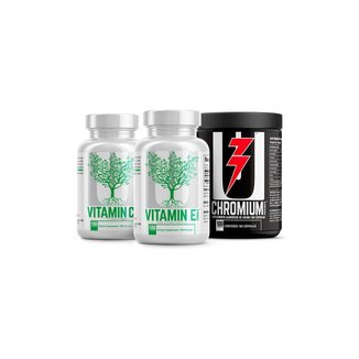 Kit Imunidade - Vitamin C (100 Tabs) + Vitamin E (100 Softgels) + Chromium Picolinate (100 Caps) - U
