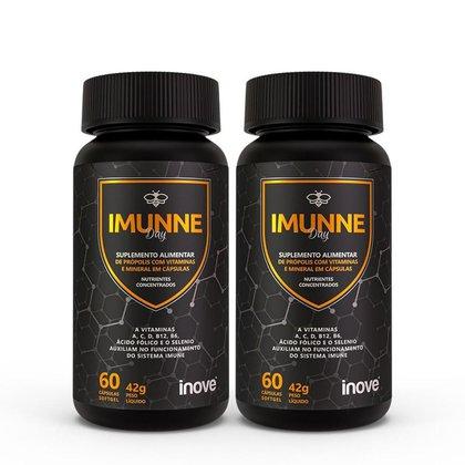 Kit Imunne Day - Multivitamínico - Inove Nutrition®  2 potes c/ 60 cápsulas cada