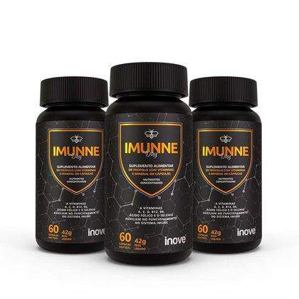 Kit Imunne - Multivitamínico - 3 potes - Ganhe 1 Squeeze Inove Nutrition®