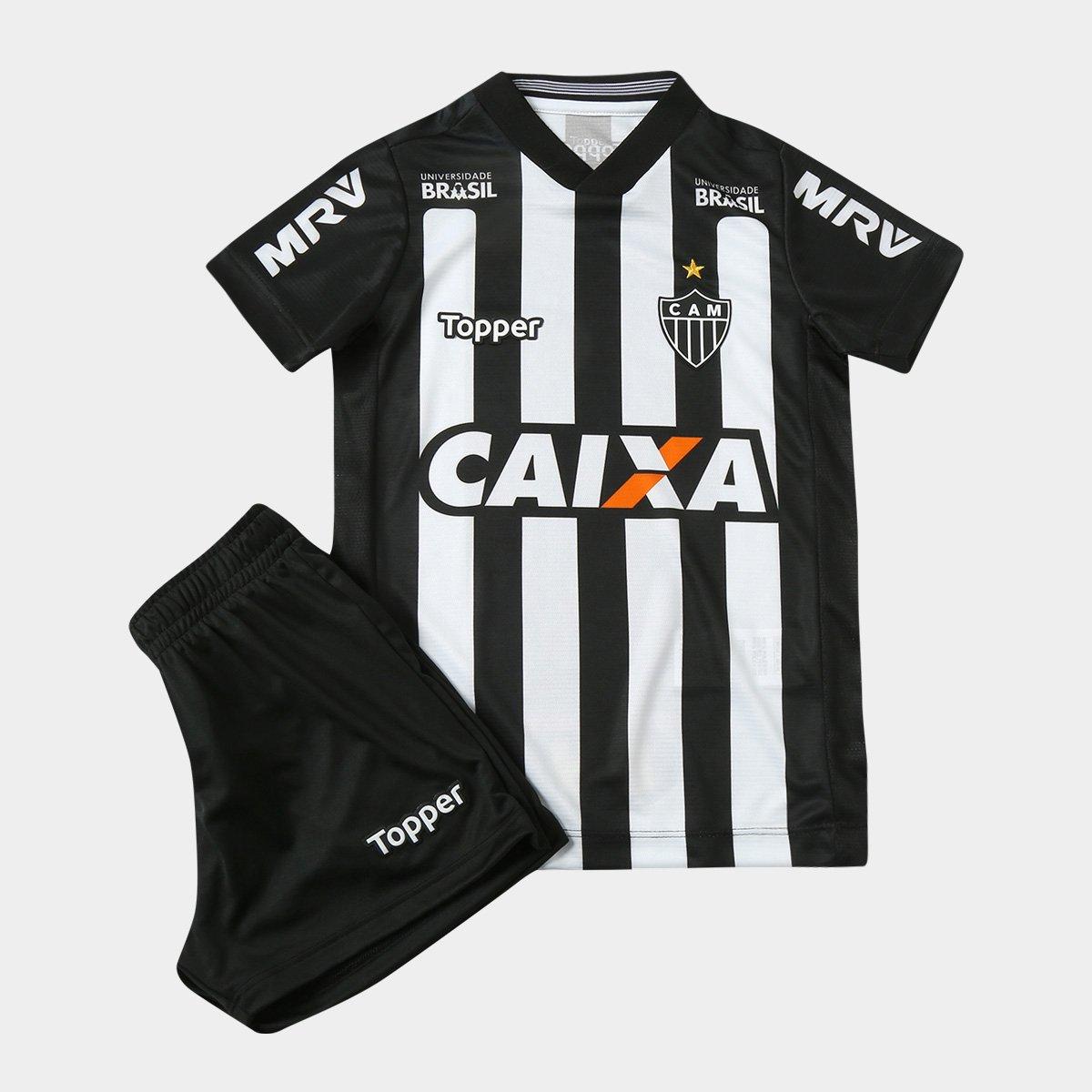 4502db687be6f Kit Infantil Atlético-MG I 2018 s n° Torcedor Topper - Compre Agora ...