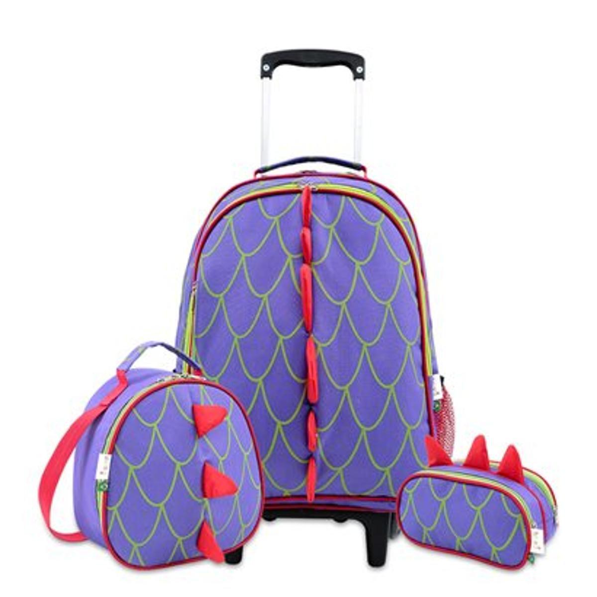 e501e9e1b Kit Infantil Mumagi Escolar Dragão Masculino - Roxo | Netshoes