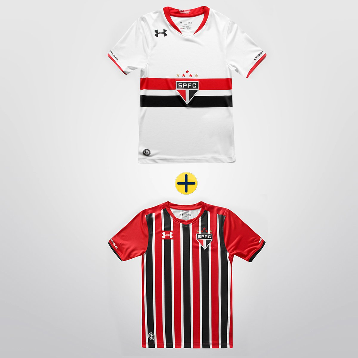 9558224878 Kit Infantil Under Armour - Camisa São Paulo I 2015 s nº + Camisa São Paulo  II 2015 s nº - Compre Agora