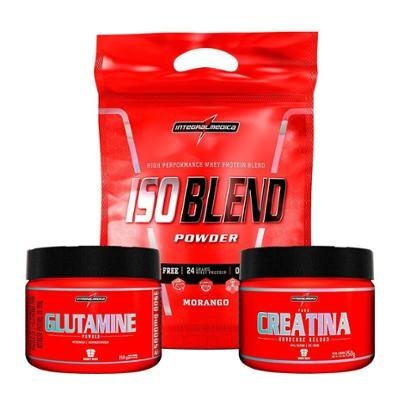 Kit Isoblend + Creatina + Glutamina (907G) Integralmédica